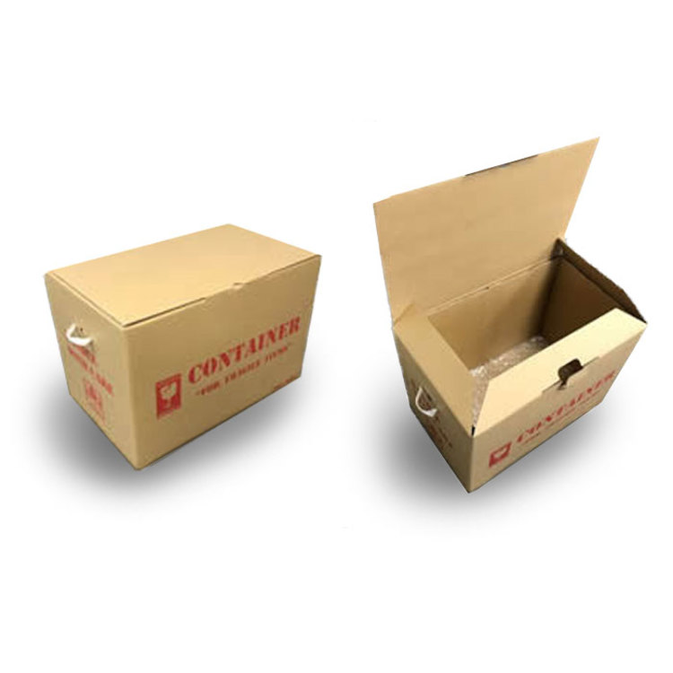 We sell 4 types of carton box.Each size and price are as follows.We developed exclusive original carton box for the purpose of the protection of the flight baggage with Japan Airlines. Handles both of both sides are easy for carrying.