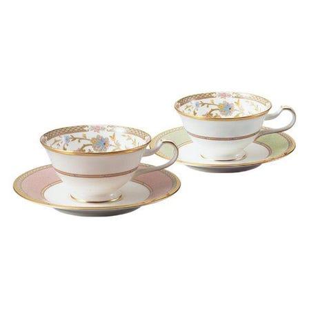 '요시노(YOSHINO)' 커플용 차/커피 잔 & 받침 세트(2색)