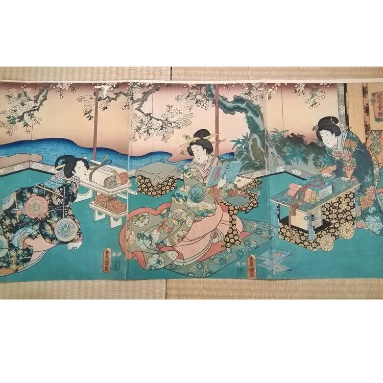 Ukiyo-e Woodblock Prints / By Katsushika Hokusai, Utagawa Hiroshige, Utagawa Toyokuni, Utagawa Kuniyoshi, Yoshu  Chikanobu, Keisai Eisen, and others