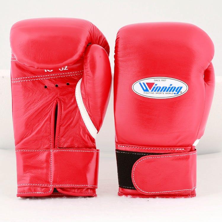 Winning/MS-300-B/拳擊手套※魔鬼氈設計(紅色) 10oz