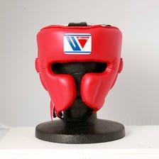 Winning/FG-2900/拳擊頭部護具※臉部防護設計(紅色)