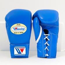 Winning/MS-300/拳擊手套※綁帶設計(藍色) 10oz
