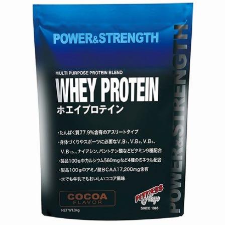 フィットネスショップオリジナルホエイプロテイン<br /> 1kg / 3kg<br /> ココア風味/ミルク風味