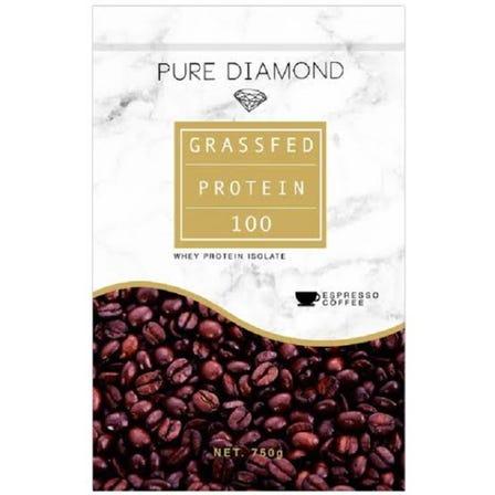 PURE DIAMOND GRASSFED PROTEIN エスプレッソコーヒー味 / ルイボスジンジャー味