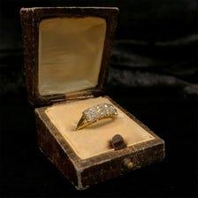 イギリス製 オールドカットダイヤモンドリング