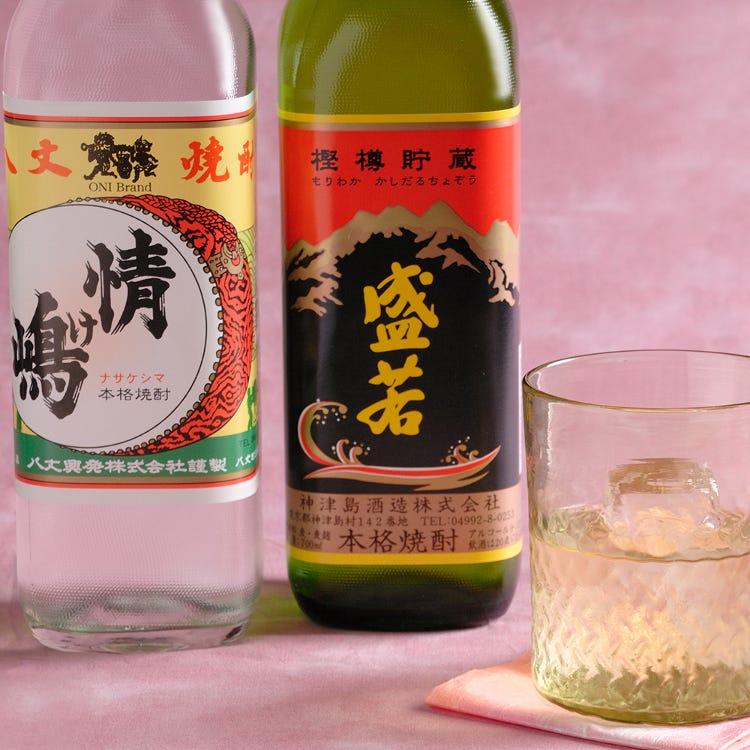 Shimazake spirits of the Izu and Ogasawara Islands (shochu, rum, liqueur)