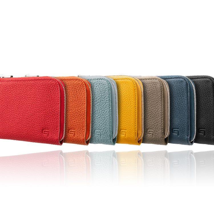 GRAMAS German Shrunken-calf L Shaped Zipper mini Wallet Ver.2