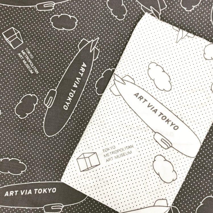 """Tokyo Metropolitan Art Museum Original<br /> """"ART VIA TOKYO"""" hand towel [Made in Japan]"""