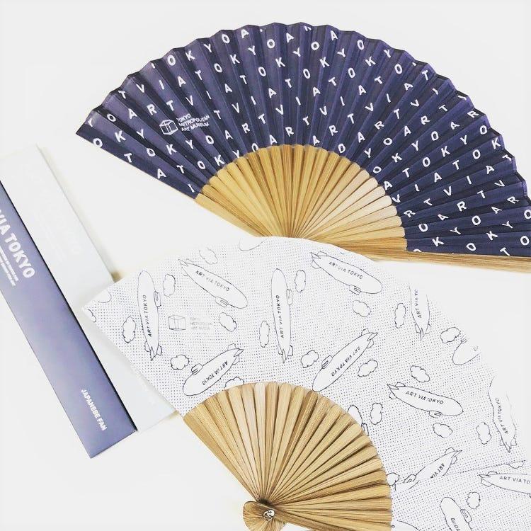 "Tokyo Metropolitan Art Museum Original<br /> ""ART VIA TOKYO"" folding fan"
