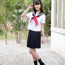 夏季水手风格(水手,裙子,围巾)