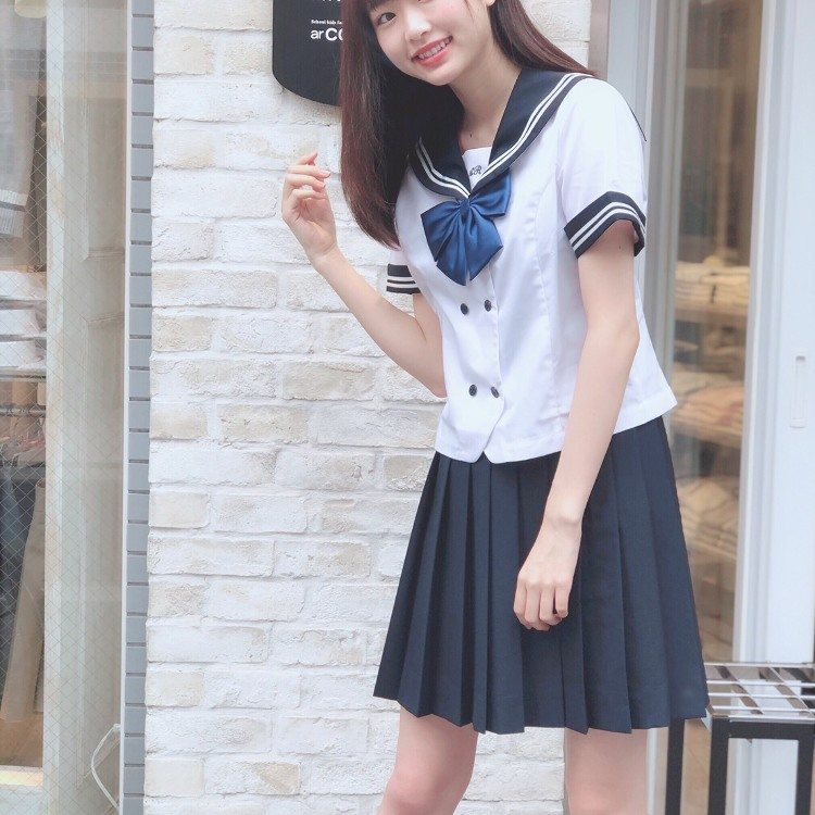 新水手(海军)风格(水手,裙子,丝带)