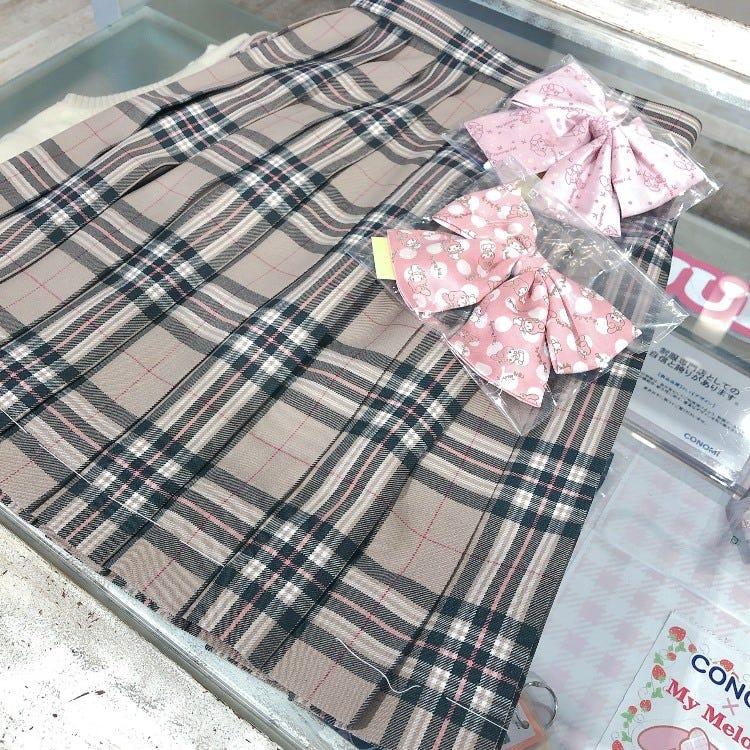 Camel x Pink Skirt / My Melody Ribbon