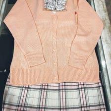 羊毛开衫,裙子,衬衫,缎带套装