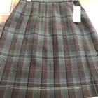 【新作】スカート グリーン×レッド2