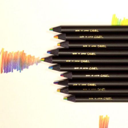 CAMEL  Rainbow colored pencils