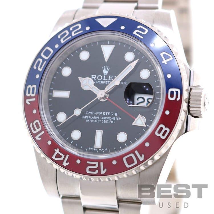 ROLEX K18WG GMT-MASTER2 116719BLRO (USED)(0100203493217)