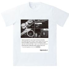 X-Pro3 pattern print T-shirt is now available for Fujifilm Imaging Plaza limited goods! Scheduled for release on March 16 or laterColor whiteSize M, L, XL Material: 100% cotton