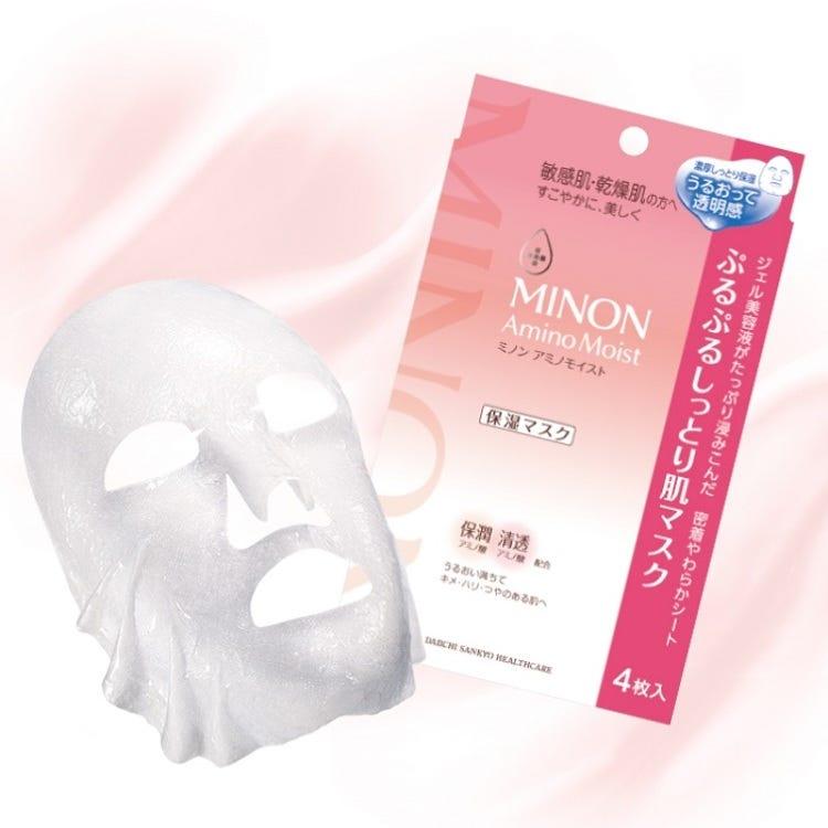Minon Amino Moist Purupuru moist skin mask 22 mL × 4 sheets