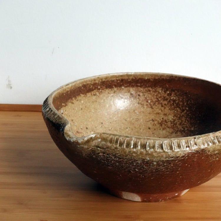 Tomasugama, Tomoo Kawabe, shigaraki pottery 20cm bowl