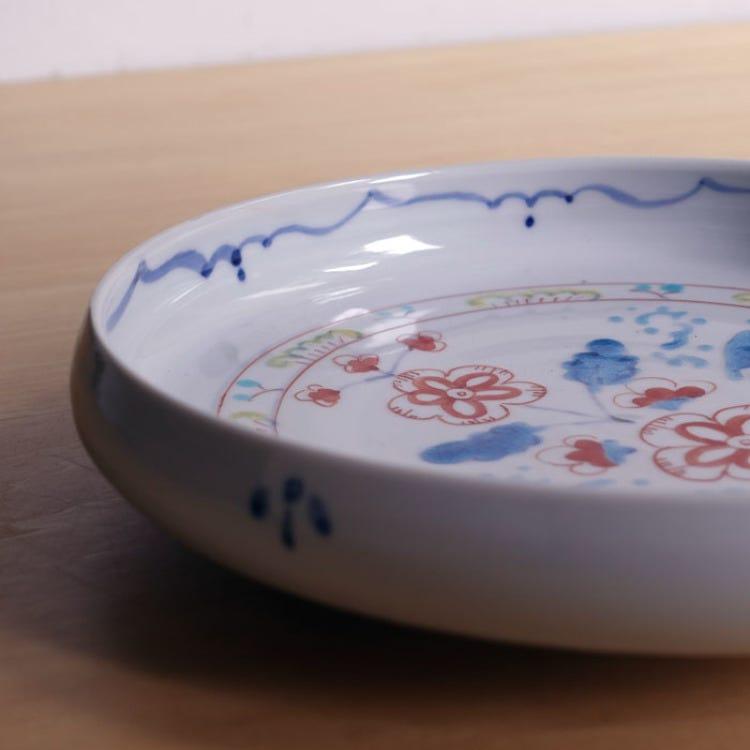 Kutani ware, Kutani Seiyo, Miyuki Yamakawa,  porcelain 21cm deep plate