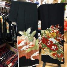 Sale Used Black Tomesode Kimono