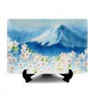 칠보 푸르른 후지산과 벚꽃 (장식용 접시)