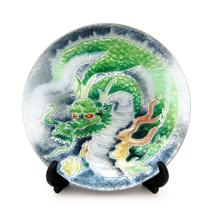 七宝 龍 飾皿