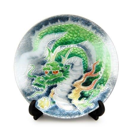 七寶 龍 飾盤