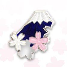 富士桜 ピンブローチ