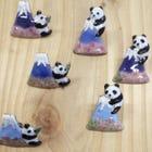 Fuji cherry Panda pin brooch