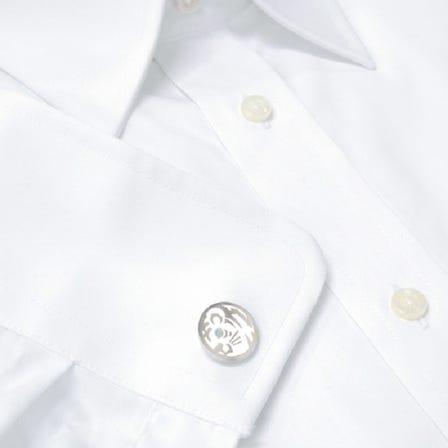 Cloisonne White tiger  cufflink
