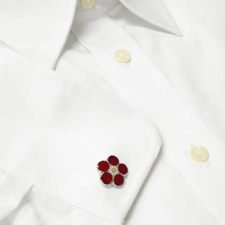 七寶 紅梅 袖扣