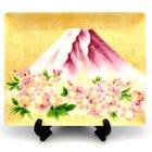 Cloisonne Fuji cherry show plate