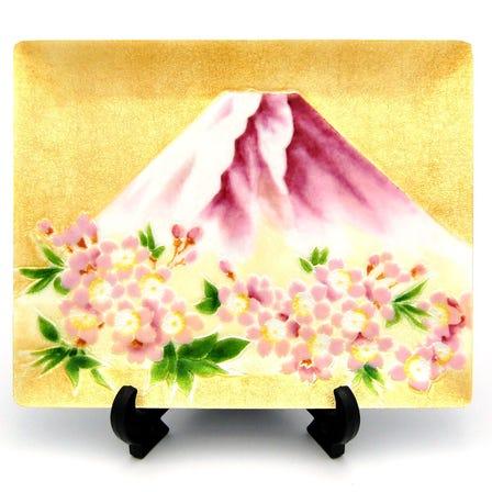 七宝 富士桜 飾皿