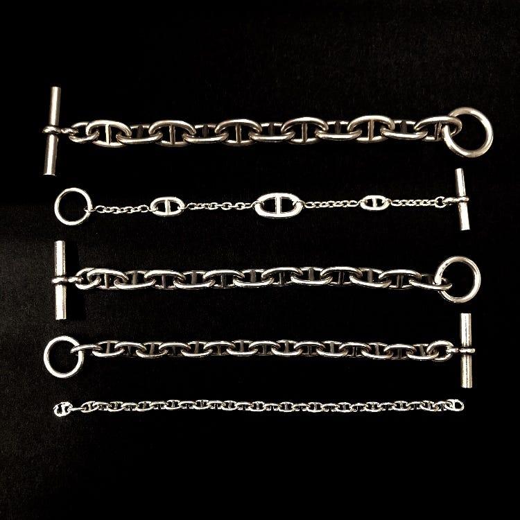 Vintage HERMES Chaine dA'ncre Bracelet