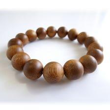 沈香(植林) 四分珠(約12mm)同尺寸珠的腕式念珠