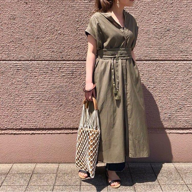 法式袖巴黎紗綁帶洋裝