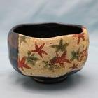 季節のお茶盌 黒楽 紅葉
