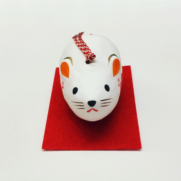 Paper zodiac ornament.  Next year is the rat year.