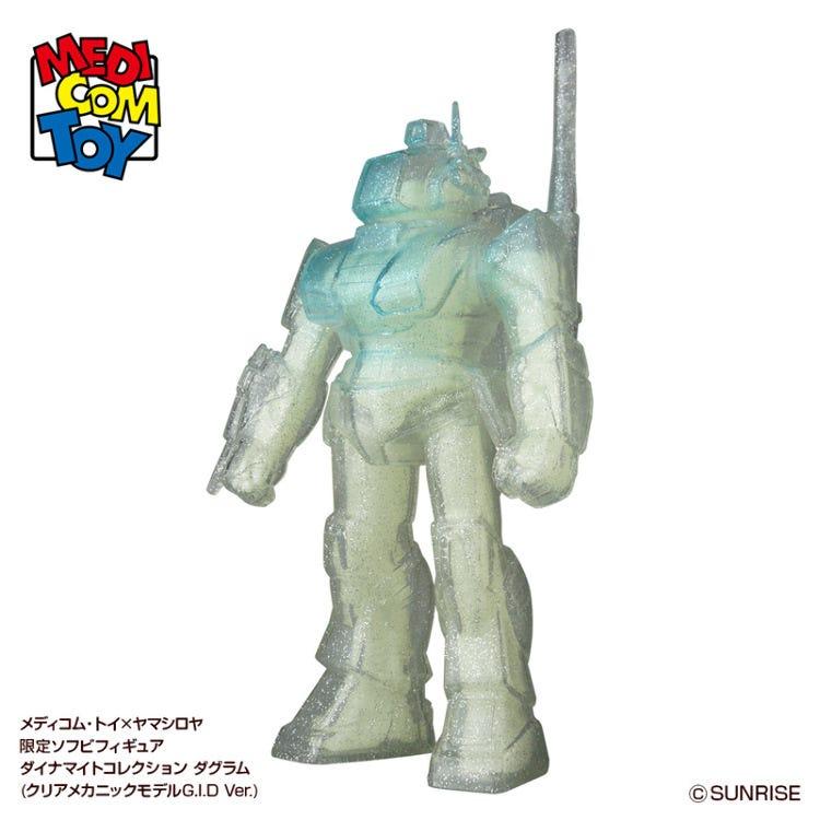 [PRE-ORDER] MEDICOM TOY x Yamashiroya-limited Dynamite collection DOUGRAM (Clear mechanic model G.I.D Ver.)