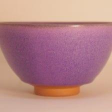 Kyoyaki green tea cup - Japanese beautyberry