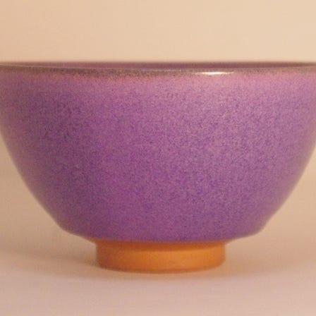 京燒 抹茶碗 紫式部