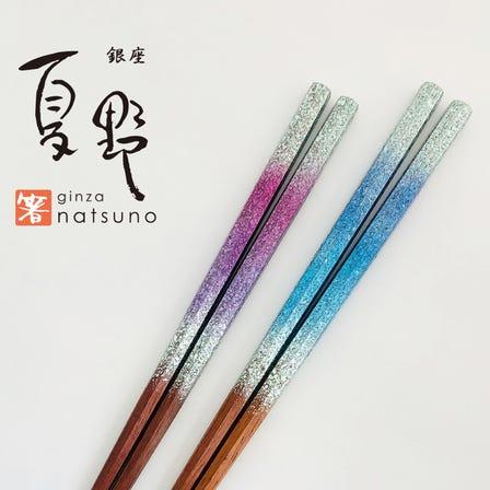东京晴空塔店限定商品  西阵图纹箔  七角形筷子