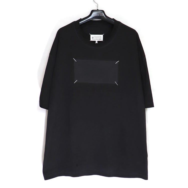 MAISON MARGIELA / Resin Garment Dye Over Fit T-Shirt / size50 / BLACK