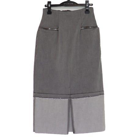 YOHEI OHNO / YO Right-angled Zipper Skirt / size36 / GRAY