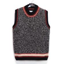 Maison Margiela / MMA Gauge 5+Hande Made /chain+croquet knit vest / sizeS / BLACK