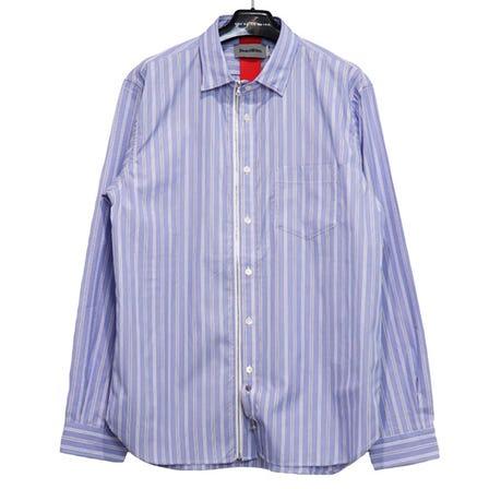 Beautilities / Be Utility Zip Shirts -Blue-Pin Stripe / SIZE:L XL