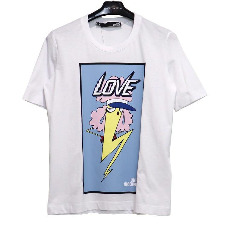 LOVE MOSCHINO / LOGO TEE /SIZE40