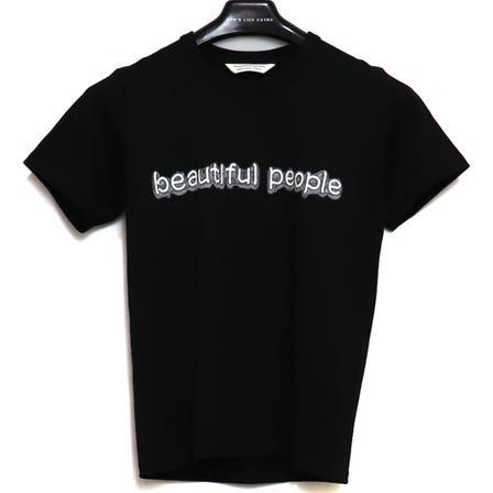 beautiful people / bp suvin pima jersey neon tube print T