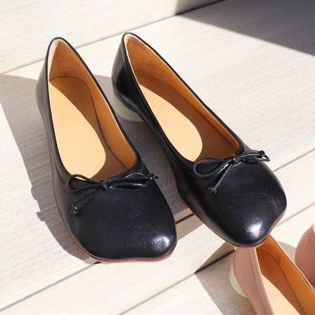 MM6 / MM 6 logo heel ballerina shoes / 39